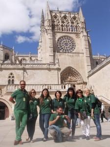 Voluntarios de RGA visitando Burgos