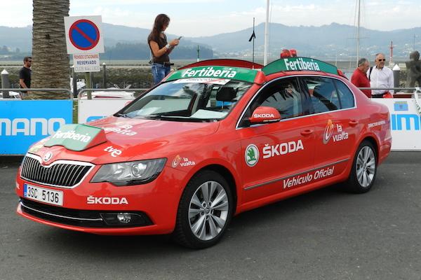 Coche en La Vuelta