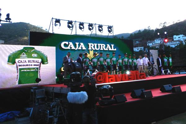 Presentación Caja Rural - Seguros RGA en La Vuelta 2015.