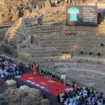 Málaga funde su pasado romano con el gran circo de La Vuelta