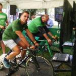 Desde el Presidente de Aragón hasta el niño más pequeño de Ejea se vuelcan con la bici solidaria